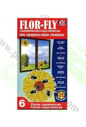 CAZAMOSCAS SIN VENENO FLOR FLY 6 UDS IPX