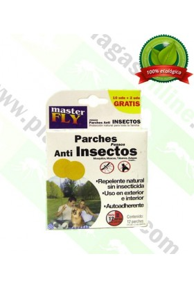 12 Parches anti-insectos Masterfly