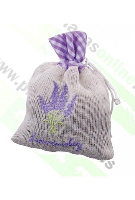 Flores de Lavanda en Bolsa de Lino Bio