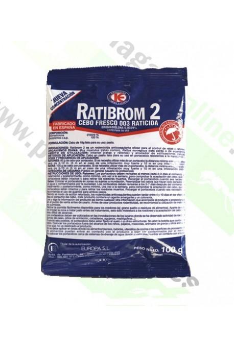 Raticida Bromadiolona en Pasta 100gr