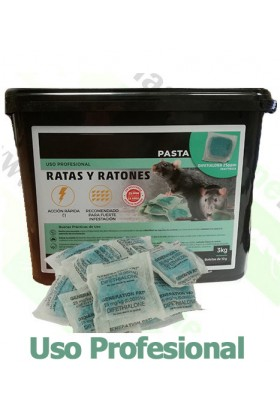 Raticida Difetialona en Pasta 3KG
