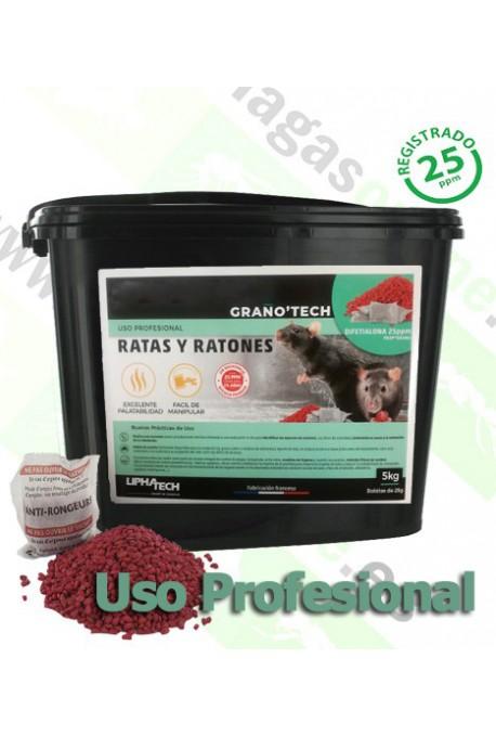 Raticida Difetialona en Grano 5kg