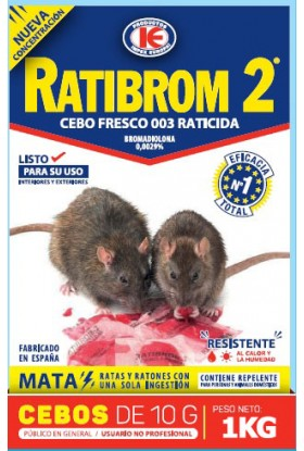 Rodenticida Anticoagulante en Pasta 1KG