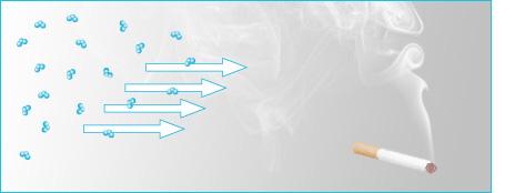 principio activo ozono elimina humos y g
